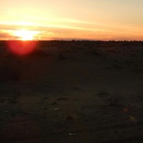 Desert sunset, 11 Nov 14