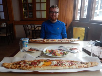 Turkish pizza by the Black Sea