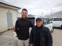 with a fellow hopeful ferry passenger, 27 Oct 14