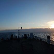 Sunset at sea, 29 Oct 14