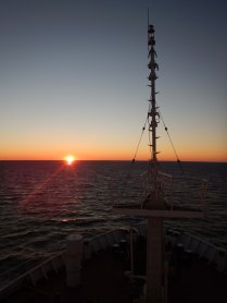Dawn at sea, 30 Oct 14