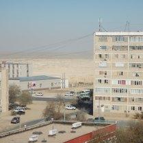Desert view from Lyazzat's flat, 31 Oct 14
