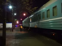 Leaving the train at Beyneu, 2 Nov 14