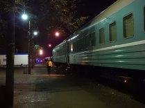 Leaving the train at Beyneu, 2 Nov 14
