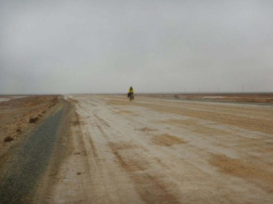 Harsh desert in Kazakhstan