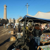 Bike shop leaving Khiva, 10 Nov 14