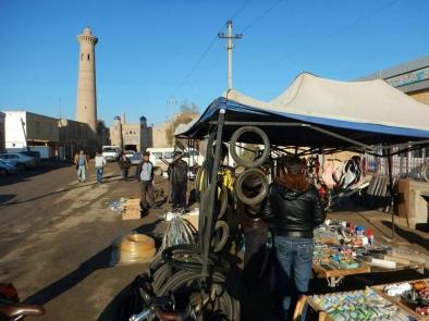 Bike shop leaving Khiva, 10 Nov 14