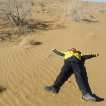 Sand angel in the desert, 12 Nov 14