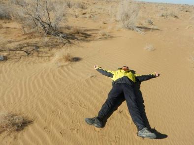 Sand angel in the desert, 12 Nov 14