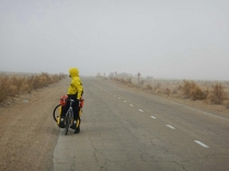 Riding single file in headwinds, 13 Nov 14