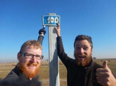 Only 100 kms of desert left!