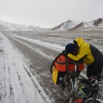 Lobby taking five on the way to Murghab, 21 Dec 14