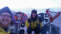 Leaving Murghab, with tinsel - 23 Dec 14