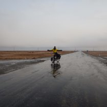 Our first crossroads after 200km, 5 Nov 14