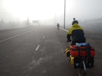 Heavy fog out of Mangit, 8 Nov 14
