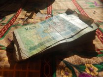 About £5 in Uzbek cash, 15 Nov 14