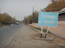 Only sign seen to Dushanbe, 19 Nov 14