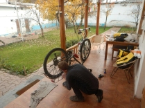 Laurence makes final preparations, Dushanbe