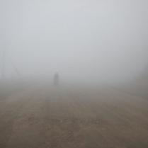 Laurence in heavy fog, 30 Nov 14