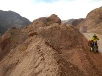Lorries throw up plenty of dust on the road, 30 Nov 14
