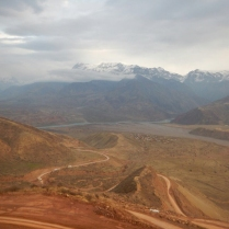 The brown mudline of our descent, 30 Nov 14