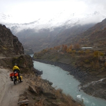 Laurence looking across the border to an Afghan village, 3 Dec 14