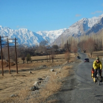 Laurence on the road towards Khorog, 5 Dec 14