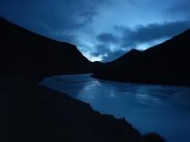 Dawn over the frozen Pamir River, 19 Dec 14
