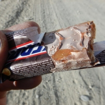 Frozen Snickers after a difficult morning, 19 Dec 14