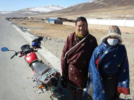 Motorbike Tibetan style, Jan 2015