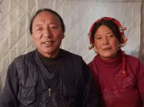 Tibetan couple who invited Nick for yoghurt on solo day, 14 Feb 15