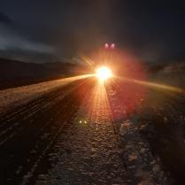 Early morning headlights, 1 Feb 15