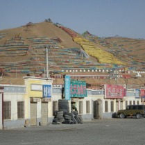 Abandoned streets but colourful hills