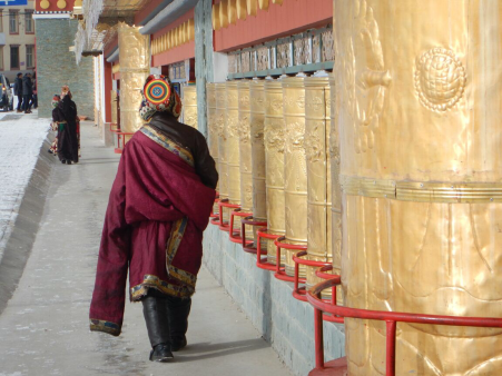 Tibetan prayer wall, Feb 2015