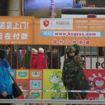 In the pedestrian zone, Kashgar, 1 Jan 15