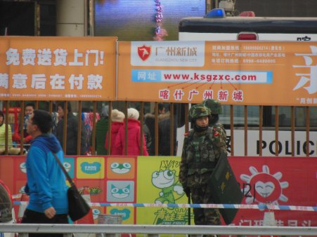 In the pedestrian zone, Kashgar, 1 Jan 15