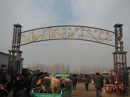 The livestock market, Kashgar, 4 Jan 15