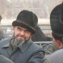 Looking out for a bargain, Kashgar market, 4 Jan 15