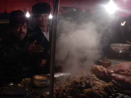 Interesting food, Kashgar night market, 2 Jan 15