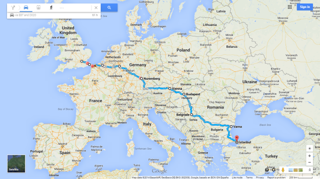 London to Istanbul 10 July-1 Sept 2014
