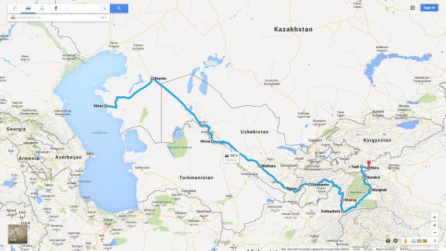Aktau to Nura, 1 Nov-27 Dec 2014