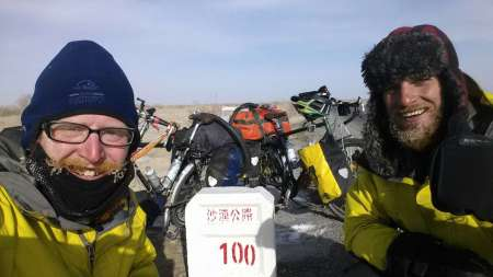 100kms into the North-South crossing of the Taklamakan, 12 Jan 15