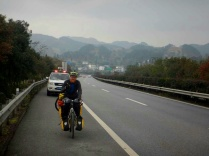 Motorway riding in Guizhou, Feb 2015