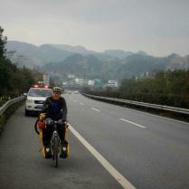 Motorway riding in Guizhou, Feb 2015