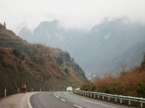 Climbing through Guizhou province, Feb 2015