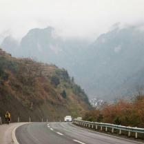 Climbing through Guizhou province, Feb 2015
