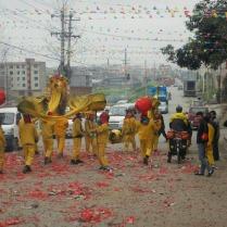 Dragon dancers and bangers, Feb 2015