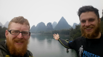 Karst peaks near Yangshuo & Guilin, 12 March 15