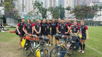 With the England 7s team in Hong Kong, 26 March 15