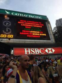 Congratulations on the HK Sevens big board, 29 March 15